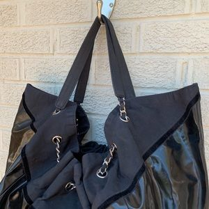 CHANEL Bags - Chanel Patent Nylon Stretch Spirit Cabas Tote Bag